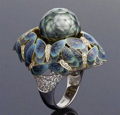 Unusual Ring by Russian Jeweler Zelenodolsk