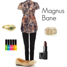 Magnus Bane Inspired fashion from The Mortal Instrument series by Cassandra Clare