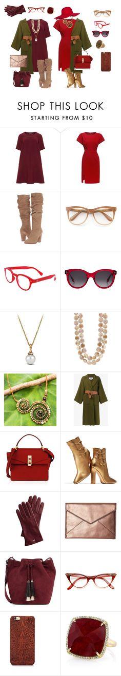 """for my mom;)"" by guakanagari on Polyvore featuring мода, Manon Baptiste, Steve Madden, Wildfox, See Concept, Alexander McQueen, David Yurman, NOVICA, Loewe и Henri Bendel"
