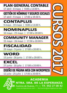 """RESERVA TU PLAZA PARA LOS PRÓXIMOS CURSOS"" www.acesperanza.com ¡Plazas limitadas! #malaga #malagacentro #malagafunciona #malagacity"