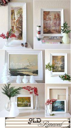 Thrift store prints. Good idea!