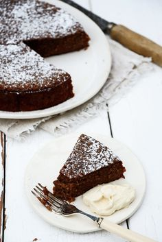 Whole Orange, Chocolate, Almond Cake with Orange Cinnamon Cream (gluten free)