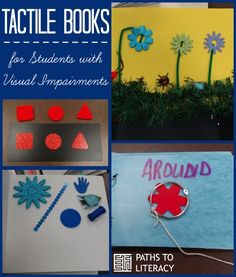 How do you make a tactile book for children who are blind or visually impaired? Find lots of ideas here! Multiple Disabilities, Learning Disabilities, Sensory Activities, Book Activities, Visually Impaired Activities, Preschool Special Education, Gifted Education, Teacher Education, Emergent Literacy