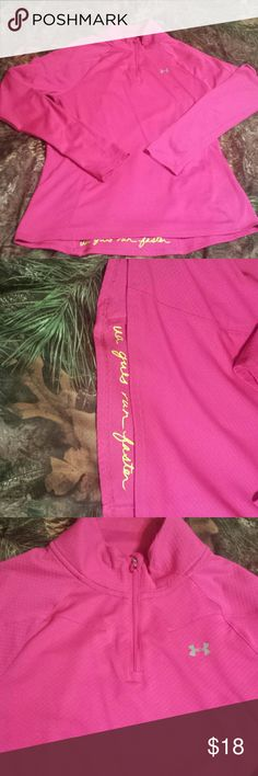 UA Heat Gear Pink UA Semi Fitted Heat Gear. Worn once,  excellent condition. Under Armour Tops Sweatshirts & Hoodies