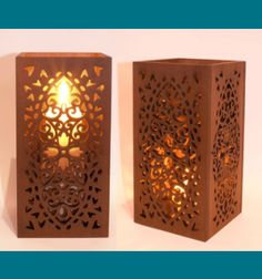 Scroll Saw Patterns :: Lighted projects :: Candle holders & Luminaries -