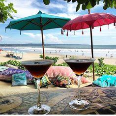 That looks about right two espresso martinis please  @lifeonthejuice #legian  #bali #balibible #thebalibible #mybalibible #espressomartini #beachlyf #indonesia #drinks #mondayz #legianbali #legianbeach  by thebalibible