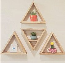 Triangle Shelves   FREE SHIPPING  Stain Options by StraightFaced