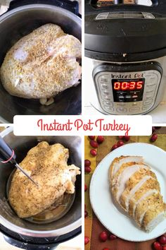 Can You Cook Turkey in an Instant Pot? - Learn how you can cook a turkey breast in your Instant Pot and come out fantastic for Thanksgiving Whole Turkey, Best Instant Pot Recipe, Cooking Turkey, Turkey Breast, Learn To Cook, Pressure Cooking, Turkey Recipes, Cooking Time, Food Hacks