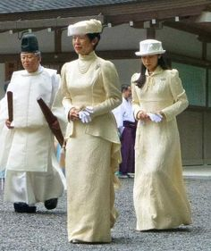 Princess Hisako and Princess Noriko of Takamado, September 3, 2014 | Royal Hats: These are meant to be about the hats, but the outfit is amazing, love it.