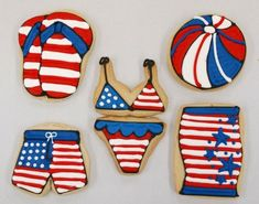 Cutest Food ideas for 4th of July cookies. @Elizabeth McFarland - another test of your mad cookie skillzzzzzz??
