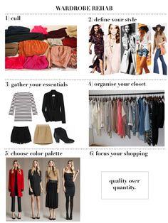 Wardrobe Rehab - transform your wardrobe in 6 steps.
