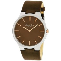 Kenneth Cole Men's Slim KC1848 Brown Leather Quartz Watch with Brown Dial  http://www.mrwatch.com/kenneth-cole-kc1848-watch-1681880962.aspx