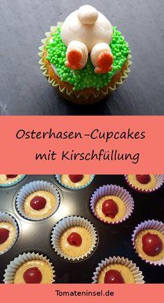 Osterhasen-Cupcakes mit Kirschfüllung