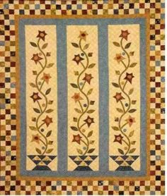 Baskets of Blooms...pretty quilt!  Pattern available at http://therabbitfactory.com