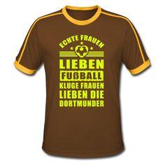 Frauen lieben Fußball, kluge Frauen die Dortmunde - Männer Retro-T-Shirt
