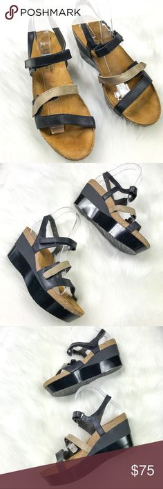 •Naot• Sandal Wedges Like new condition, about a 3in Wedge. Naot Shoes Wedges