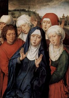 Hans Memling Granada diptych, right wing, the holy women and St. John, 1475