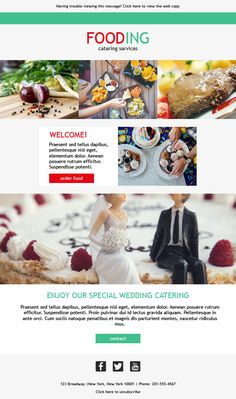 10 Best Email Templates For Catering Services Images Catering