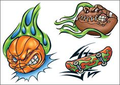 Screwball Sports tattoos - what sports-obsessed boy wouldn't love these? Sport Tattoos, Football, Baseball, Skateboarding, Bowser, Custom Design, Parties, Ink, Sports