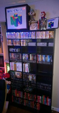 Video Game Shelves via Reddit user mazterm