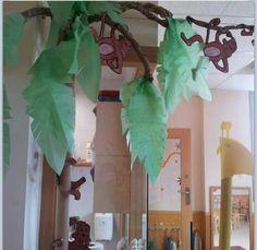 Selva decoracion Jungle Theme Classroom, Classroom Themes, Jungle Crafts, Sunday School Rooms, Dancing Animals, Dance Themes, Welcome To The Jungle, Safari Theme, School Decorations