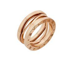 b.zero1 design legend 3-band 18k rose gold ring