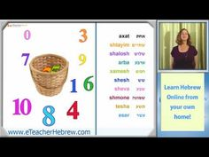 Learn Hebrew - lesson 14 - Numbers | by eTeacherHebrew