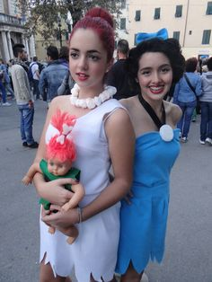 Wilma and Betty (The Flintsones)-Lucca Comics 2012 by Groucho91.deviantart.com on @deviantART