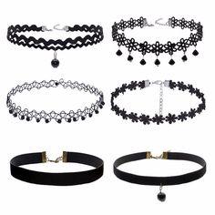 Tumblr Choker Necklaces 6-Piece Set