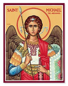 Browse the entire collection of Catholic Icons, such as this Saint Michael the Archangel Icon, today at Monastery Icons. St Michael Archangel Prayer, St Michael Prayer, Archangel Prayers, Archangel Gabriel, Religious Icons, Religious Art, Monastery Icons, St. Michael, Spiritual Armor