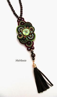 Soutache Pendant, Soutache Necklace, Tassel Necklace, Necklaces, Brooch, Drop Earrings, My Style, Handmade, Macrame