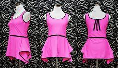 Pretty in Pink // Tank Dress - - Canottiera - Dress - Tank Top - Mini Dress - Elasticizzato - Fuxia - Alternative Rock Glam Punk Steampunk di AryZoneDiY su Etsy