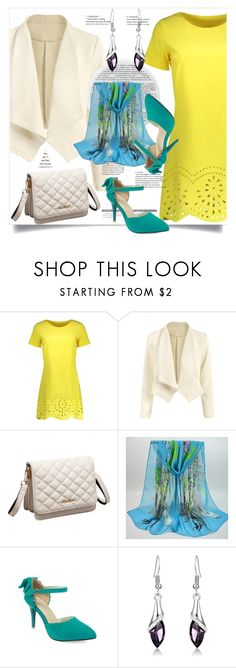 """Mini Dress - Yellow"" by ilona-828 ❤ liked on Polyvore featuring StreetStyle, polyvoreeditorial and rosegal"