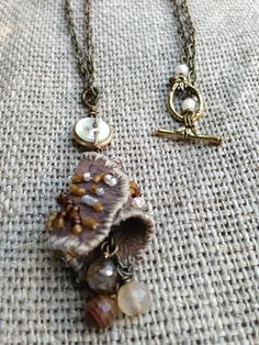 Fall Leaf Lariat Necklace by kimberlyddesigns on Etsy, $49.00