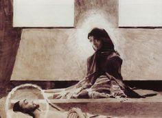 Михаил Александрович Врубель. Надгробный плач (третий эскиз росписи Владимирского собора в Киеве)
