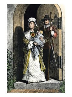 hester prynne wearing the scarlet letter a in a scene from hawthornes novel