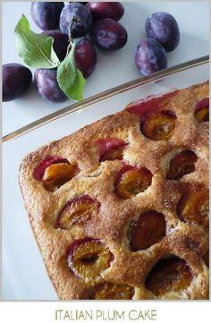 Recipe for Italian Plum Cake