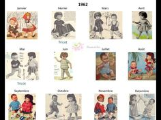 Modes et Travaux - Patrons poupée 1962