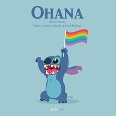 this is awesome because stitch is experiment 626 #LoveWins #pride