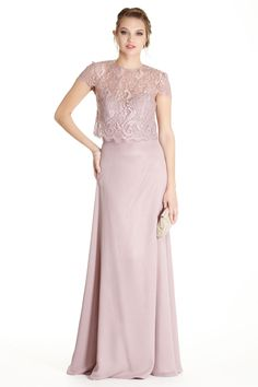 Long Formal Dress APL1772.  A-Line Full Length Mother of the Bride Evening Gown has Strapless and Sweetheart Bodice with Low Back and Zipper Closure, Sheer Lace Bolero with Short Sleeves and Button Back. Solid Color Long Skirt Completes the Style.  https://www.dresstopic.com/mother-of-bride-dresses/formal-dress-apl1772