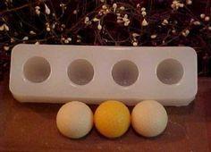 Golf Ball Tarts 4 Cavity Silicone Mold 518