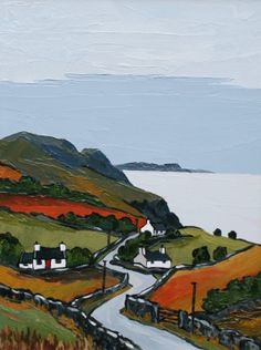 David BARNES artist, paintings and art at the Red Rag British Art Gallery City Landscape, Fantasy Landscape, Landscape Paintings, Sea Paintings, Watercolor Architecture, Cottage Art, Of Montreal, English Artists, Irish Art