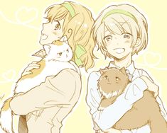 My favourite Hetalia ladies with some kitties!! (I know they're Romano and Russia, but it's just so cute)