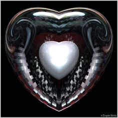 Colored White Heart by Brigitte-Fredensborg on DeviantArt
