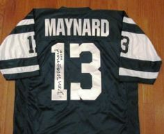 56ec7b49965 Don Maynard Signed Green Jersey - New York Jets by Leader In Sports.   144.95.