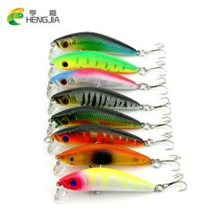 Wholesale 400pcs fishing lures,assorted colors quality Minnow 70mm 7.72g,Tungsten ball bearking 2017 model crank bait