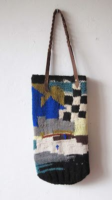 knitted bag by chris van veghel Leather Handle 802d4be05e343