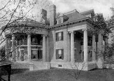 Greek Revival Architecture, Stone Columns, Historical Photos, Continents, Castles, Vintage Photos, Past, Nostalgia, Cottage