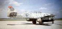 Messerschmitt Me 262B-1a/U1 night fighter, Wrknr. 110306, with Neptun radar antenna on the nose and second seat for a radar operator. This airframe was surrendered to the RAF at Schleswig in May 1945 and taken to the UK for testing.