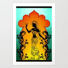 Silhoue Jasmine Art Print by Katie Simpson - $15.60 Hey Yal come check out my store on society6.com.